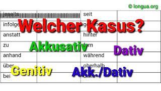 A1, A2, B1, B2, C1, Übungen, Welcher Kasus?, Akkusativ, Dativ, Genitiv, Wechselpräpositionen, in