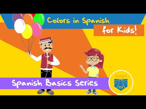 Colors In Spanish For Kids | Spanish Academy TV