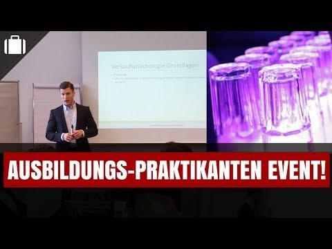 Ausbildungs-Praktikanten Event & Party in Stuttgart! - Vlog #11