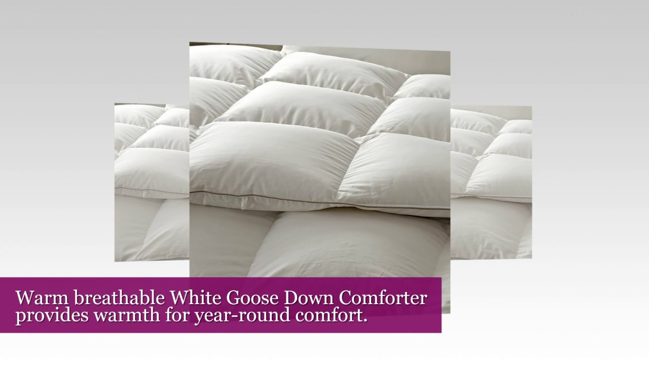 Snowman White Goose Down Comforter CAL King Size 100% Cotton Shell Down  Proof Solid