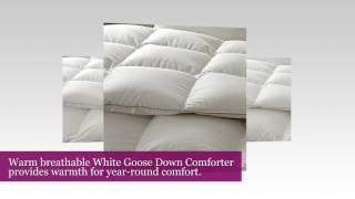 Snowman White Goose Down Comforter CAL King Size 100% Cotton Shell Down Proof-Solid