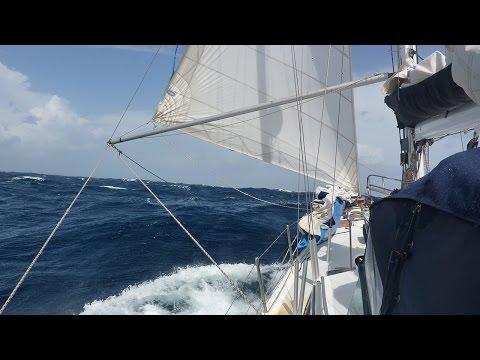 Temporal duro en el Atlantico Norte, navegando a vela con el velero Sirocodiez