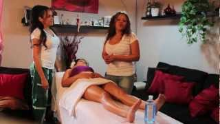 Masaje para piernas cansadas (massage for tired legs)