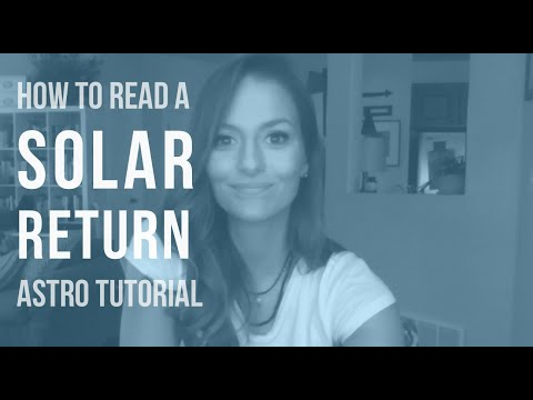 ASTRO TUTORIAL: How to Read a Solar Return Chart
