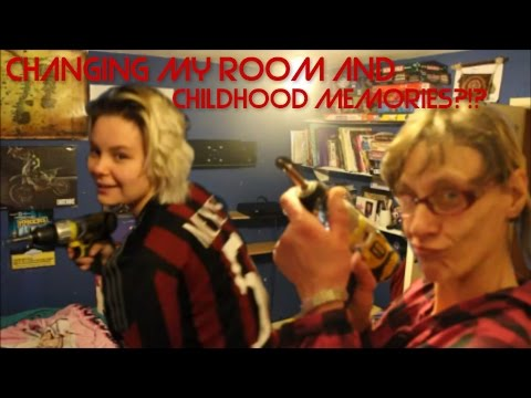 CHANGING MY ROOM AND CHILDHOOD MEMORIES?!?! - VLOG!