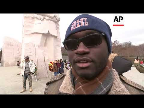 MLK day marked at memorial in US capital