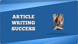 Article Writing Success Tools