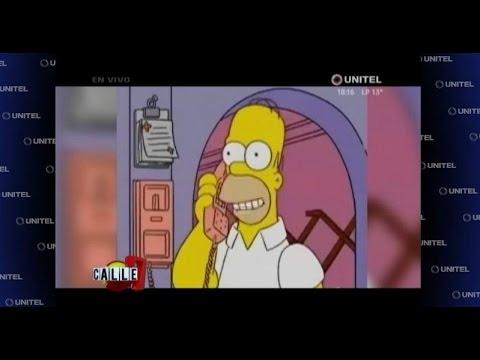 Desde Springfield - EEUU, Homero Simpson apoya con todo a Ronald Arnez