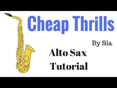 Cheap Thrills (Sia) Alto Sax Tutorial