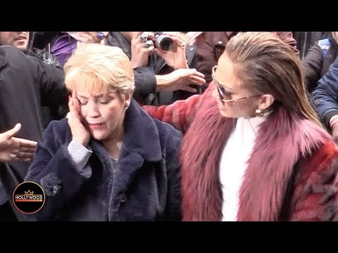 Louie Cruz - VIDEO: J-Lo's Mom Gets Elbowed In The Face!