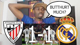 Barcelona Fan Reacts To Athletic Bilbao vs Real Madrid 1-1