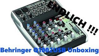 Behringer Xenyx Q1002USB Mischpult Unboxing Deutsch