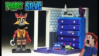 Five Nights at Freddy's Left Dresser w/Door Mcfarlane Toys NIGHTMARE FOXY FNAF Lego Unboxing Playset