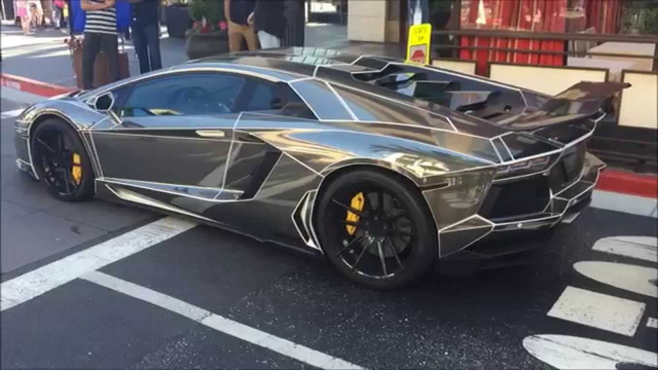 chrome tron lamborghini aventador youtube. Black Bedroom Furniture Sets. Home Design Ideas