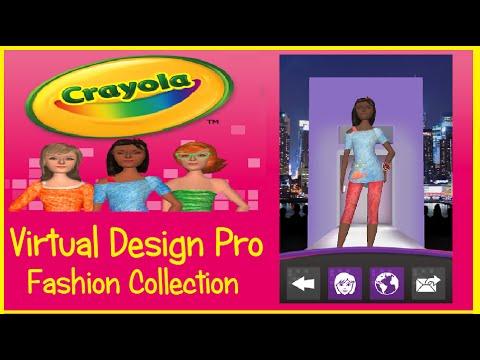 My Virtual Fashion Show With Crayola Virtual Design Fashion Collection Youtube