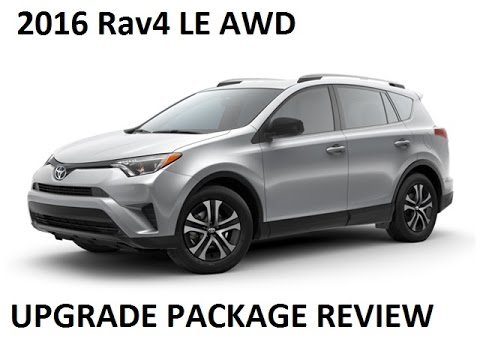 2016 Toyota Rav4 Le Awd Upgrade Package In Silver Sky Metallic Review And Detailed Walk Around