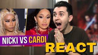 REACT TRETA POP: NICKI MINAJ VS CARDI B