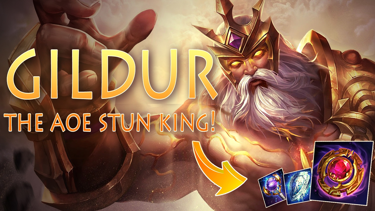 Strike of Kings: THE AOE STUN KING! Gildur [MA/Tank Bot] Gameplay