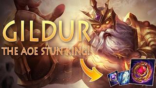 Strike of Kings: THE AOE STUN KING! Gildur [MA/Tank Bot] Gameplay