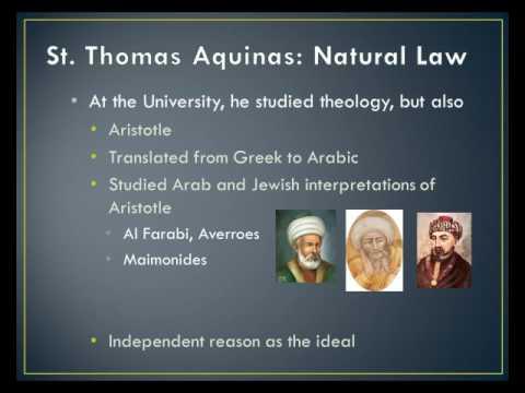 Thomas Aquinas Political Thought/Background 1
