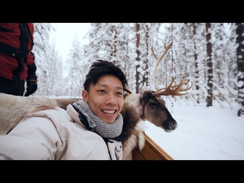 Santa Claus Village + Reindeer & Husky Sledding! | Finland Travel Vlog 03
