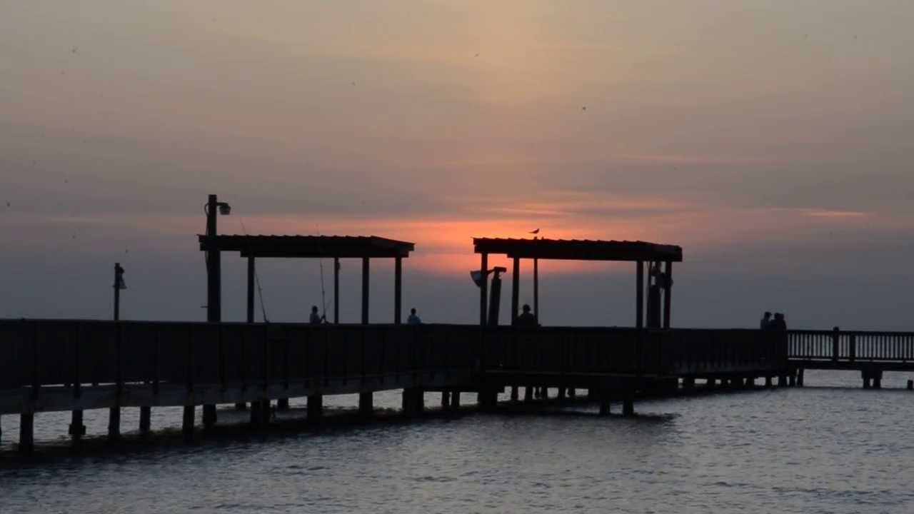 port mansfield fishing pier sunrise 8 01 2013 youtube