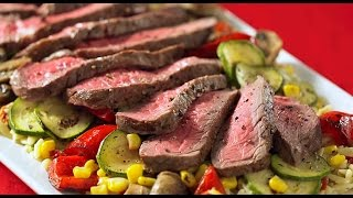 Charred Beef Steak And Veggies With Orzo Pasta - Recipe How To Cook