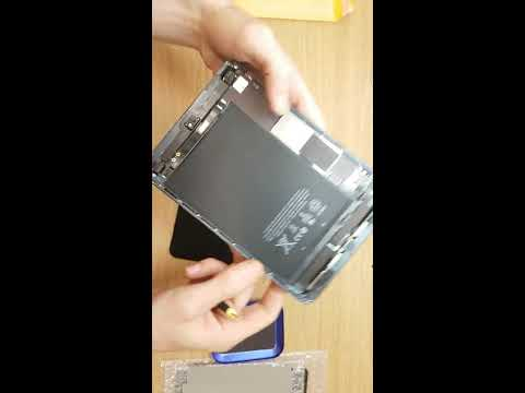 How to clean Apple iPad Air black to instal touchscreen
