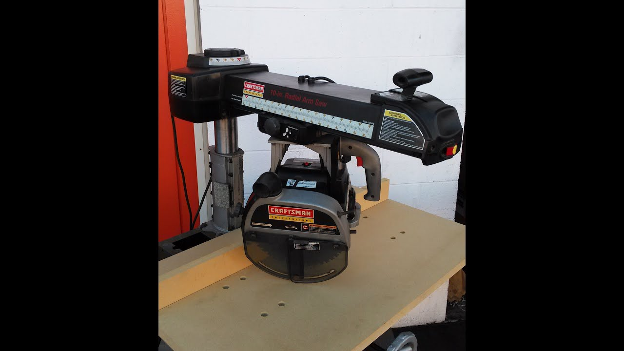 medium resolution of craftsman professional 10 radial arm saw demonstration