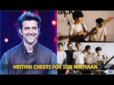 Hrithik Roshan cheers for son Hrehaan's first rock band performance Mp3