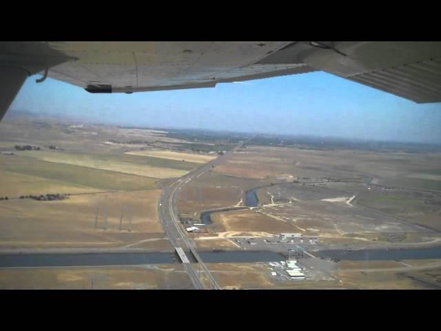 Cessna 182 Landing At Byron Municipal Airport (C83)