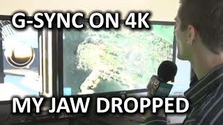 NVIDIA 4K G-SYNC Monitor Demo & General Booth Overview - CES 2014