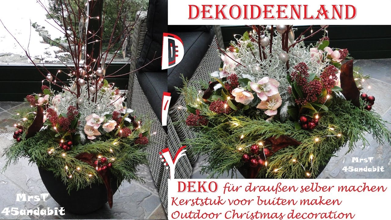 diy weihnachtsdeko selber machen f r au en i mit stacheldrahtpflanze i kerststukje christmas. Black Bedroom Furniture Sets. Home Design Ideas