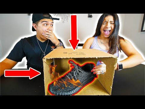 FIRE WHAT'S IN THE BOX CHALLENGE!! FT. My Wife