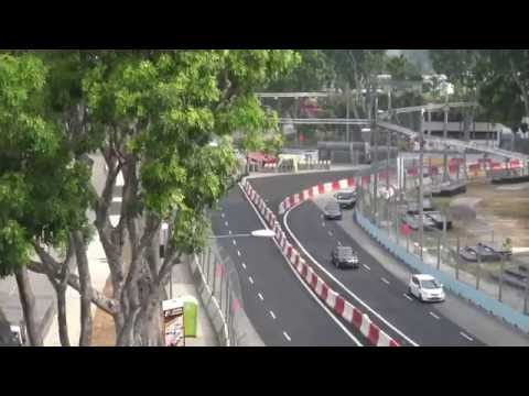 Singapore Formula 1 Circuit 2015 - Tour & PS4 Action