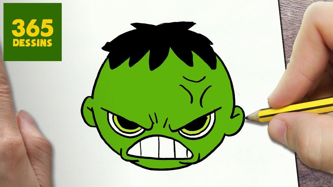 Comment Dessiner Hulk émoticône Kawaii étape Par étape Dessins Kawaii Facile