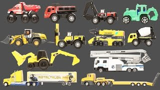 Learn Heavy Duty And Construction Vehicles With Cars Toys Trucks | Learn Names And Sound of Vehicles