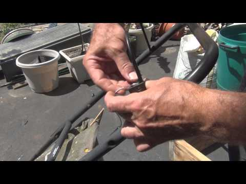 how to change the pull cord on a baumr-ag lawnmower