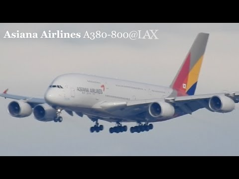 Asiana Airlines A380-800@LAX