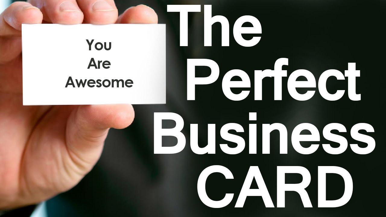 5 Tips To Create The Perfect Business Card How To Design