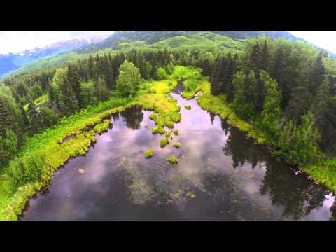 DJI Phantom GoPro Aerial Drone footage of Pure Alaska 2014