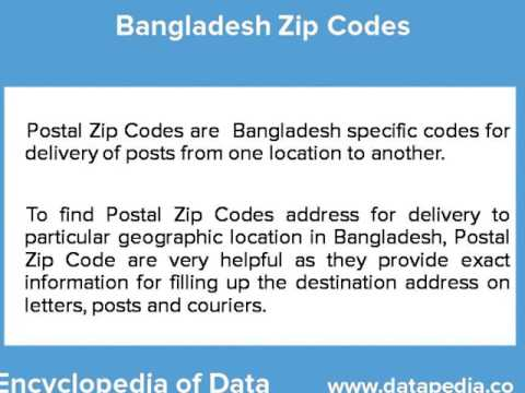 Bangladesh Zip Codes
