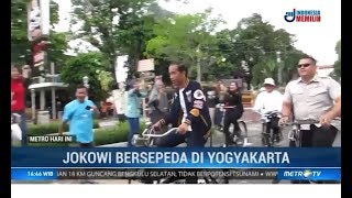 Jokowi Bersepeda di Yogyakarta