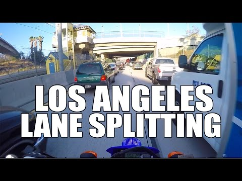 Motorcycle Lane Splitting In Los Angeles, CA