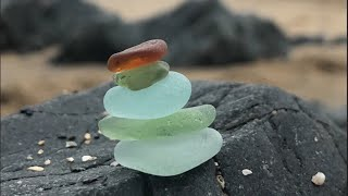 A sea glass video! Finding it, drill it and using in an art project, from Polurrian Beach, Cornwall