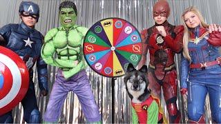 Dancing Superheroes Surprise Kakoa With Magic Spin Wheel!