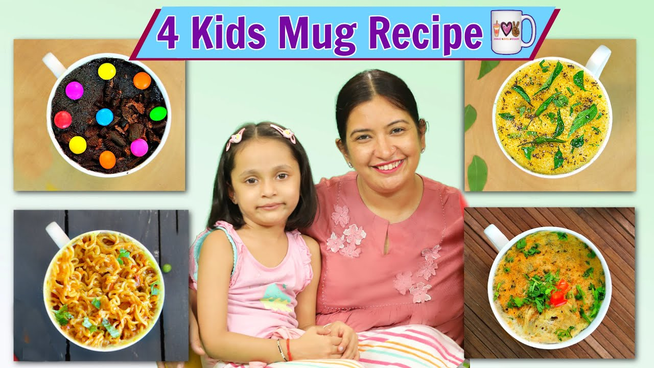 4 Kids MUG FOOD Recipes | CookWithNisha