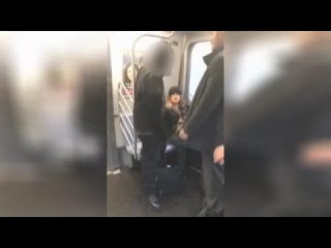 See Bystander Come to Defense of Woman on NYC Subway!