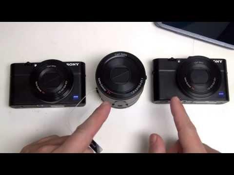 Sony Cyber-shot QX100 vs RX100 / RX100 II