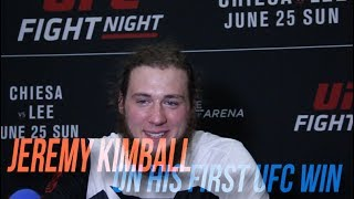 Jeremy Kimball speaks on his 1st UFC win at UFC Fight Night 112